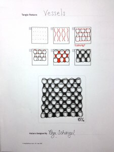 Vessels Zentangle Pattern