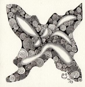 131204 Zentangle MonoTangle: PrinTemps